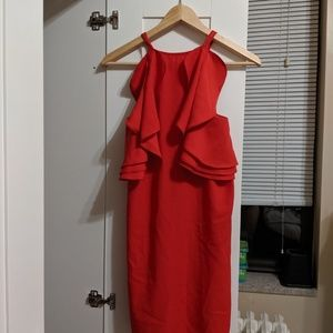 Strappy Back Red Babydoll Prom Wedding Guest Dress